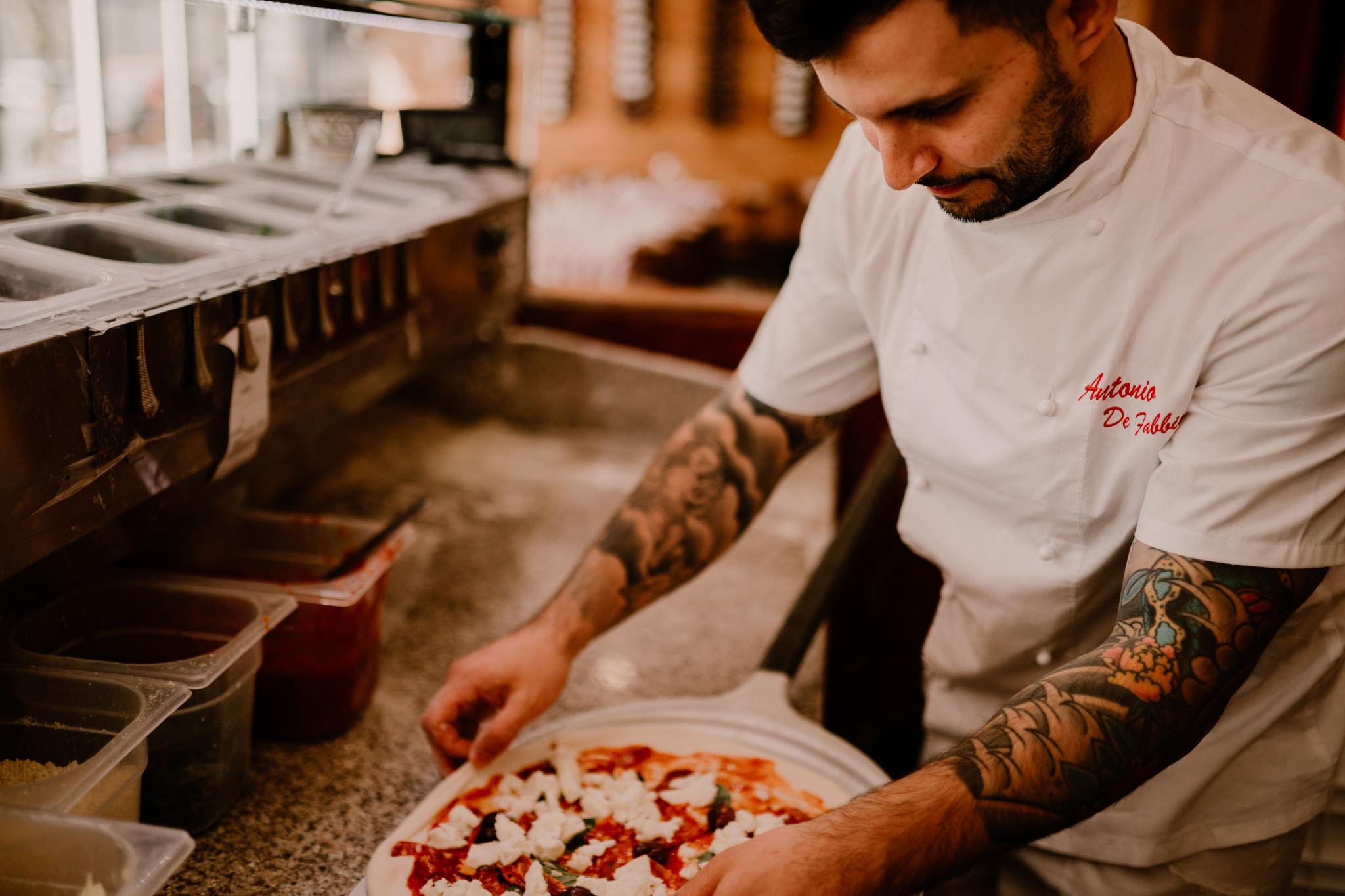 Photographe entreprise B2B Bordeaux Guadeloupe pizzeria tradizione bordeaux